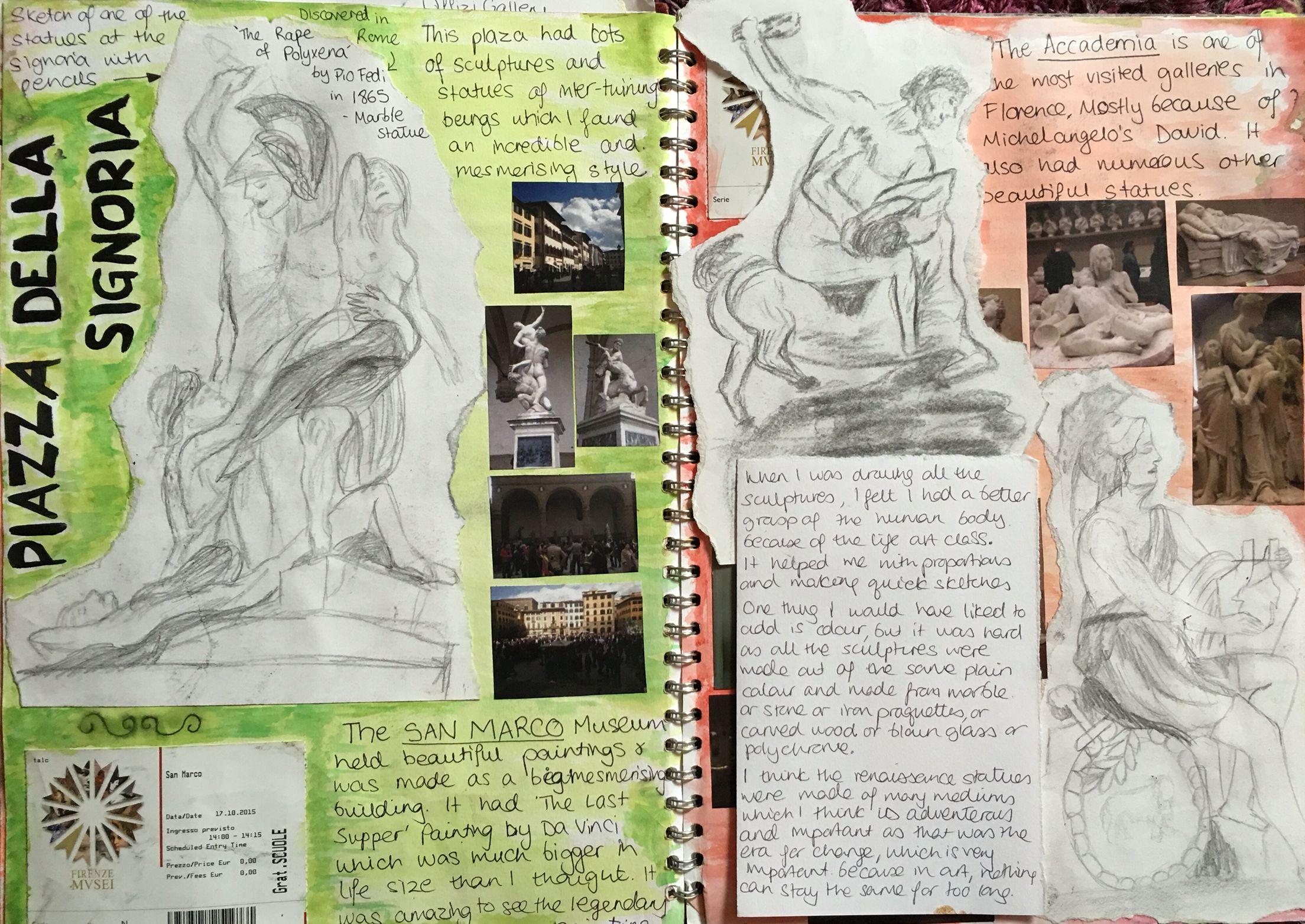 Webmobili ~ Florence part 3 gcse art sketchbook pinterest gcse art