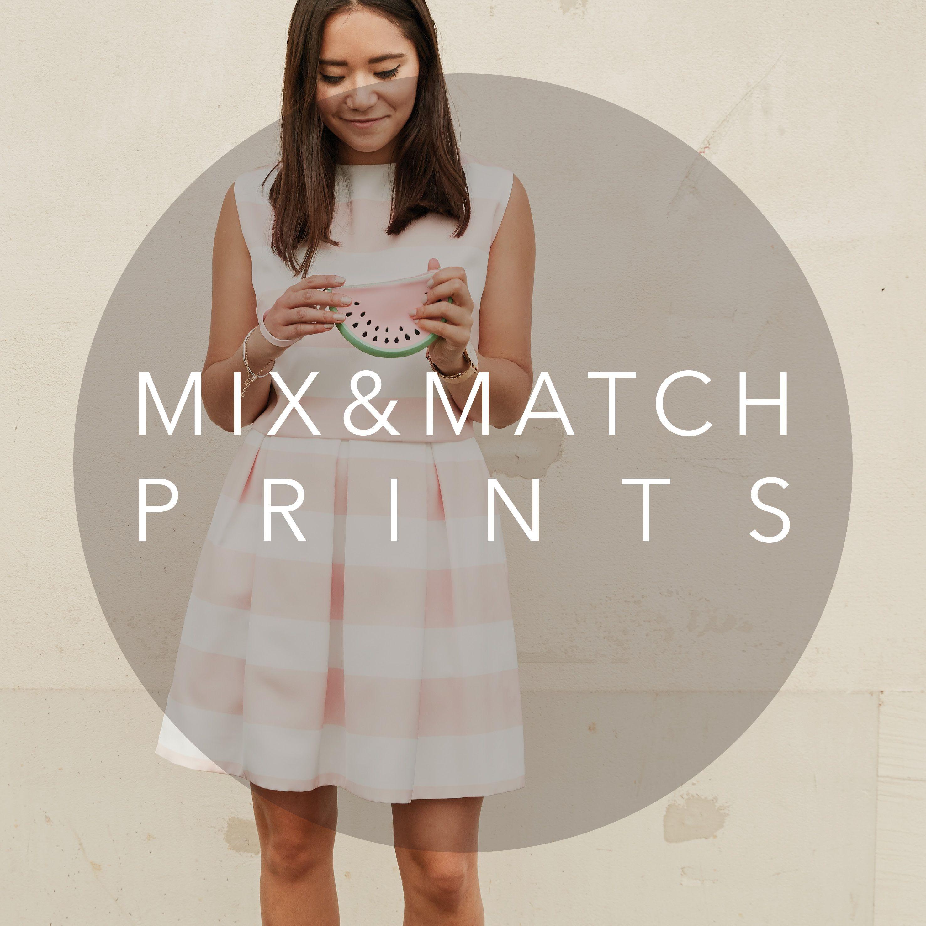Mix and match prints dresses piq mix u match prints