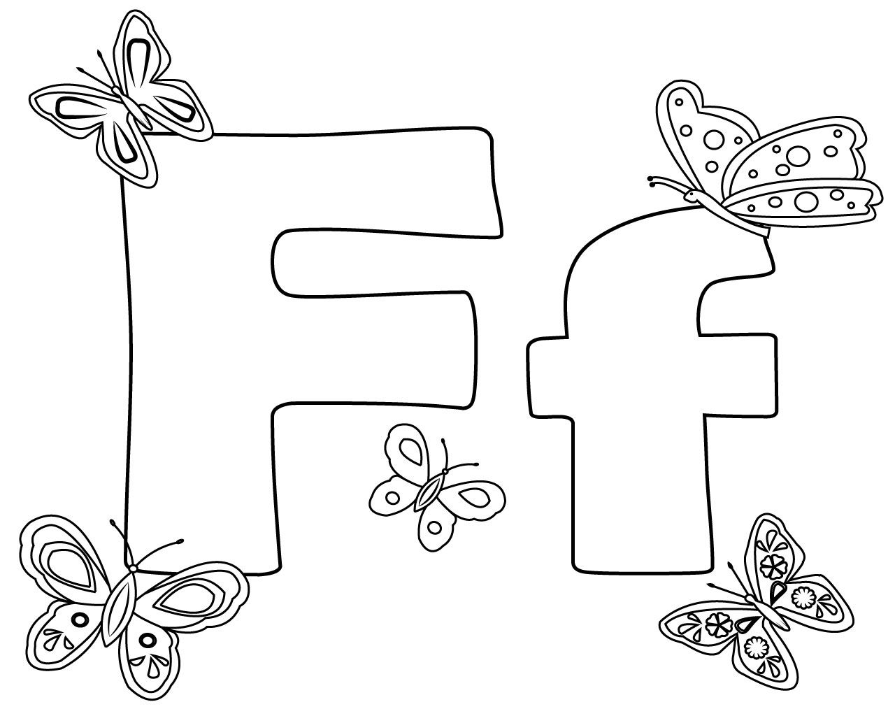 f coloring pages for preschoolers | Alphabet crafts preschool ... | 1024x1280