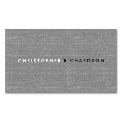 Modern and minimal on gray linen business card templates make your modern and minimal on gray linen business card templates make your own business card with this great design all you need is to add your info to t colourmoves Gallery