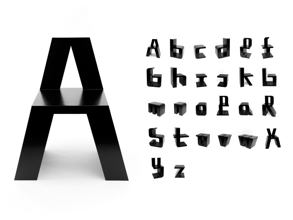 Netherlands based designer roeland otten has created for Furniture 7 letters
