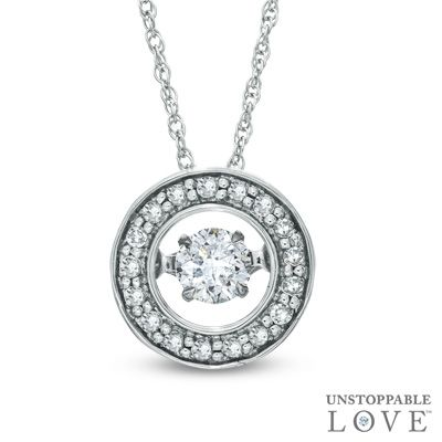 Unstoppable Love 1 4 Ct T W Diamond Circle Pendant In