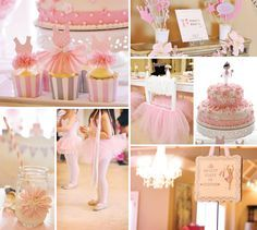 Pink Tutu Inspired Ballerina Birthday Party, --ha ha, I know a little one who would get off on this!!