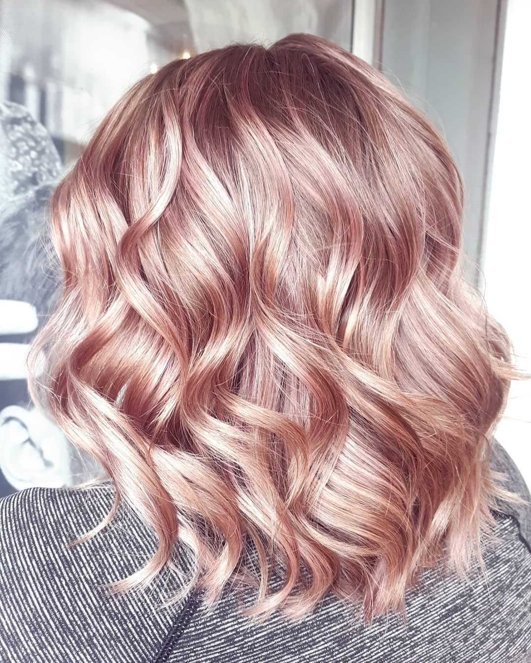 112 medium rose gold hairstyles will inspire you in 112112   Page 12 ...