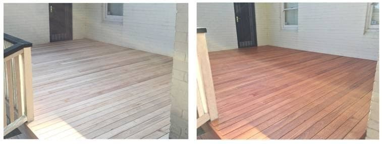 Silver Top Ash Decking Before And After Coating With Cutek Timber Outdoor Decor Deck