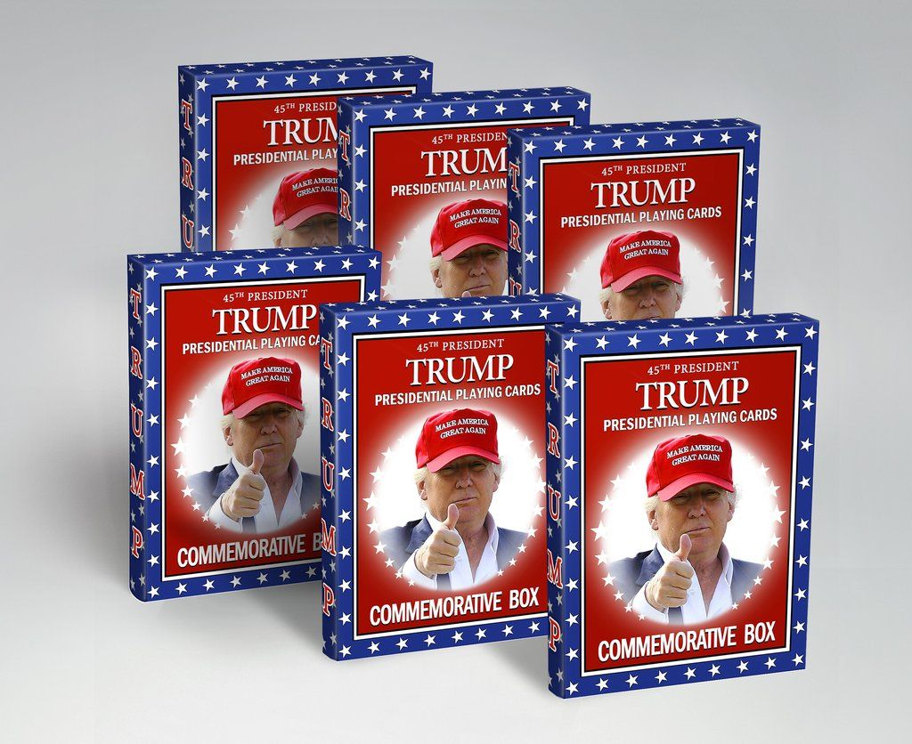 45th president trump playing cards a presidential 6 pack
