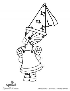 elzee coloring page zou coloring pages for kids sprout