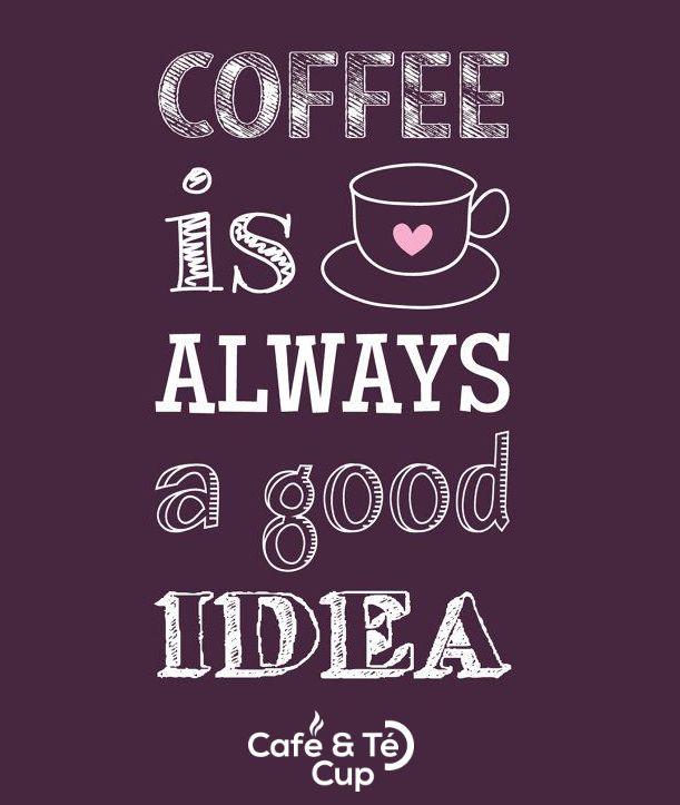 Un #cafe es siempre una buena idea