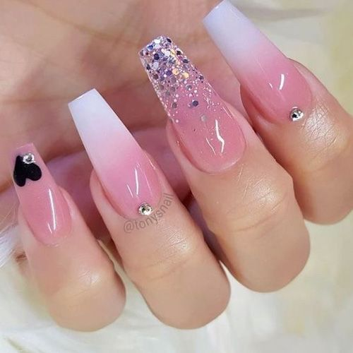 28 Nails That Are Seriously Amazing For 2019 Favnailart Com Diamond Nails Coffin Nails Designs Pink Nails