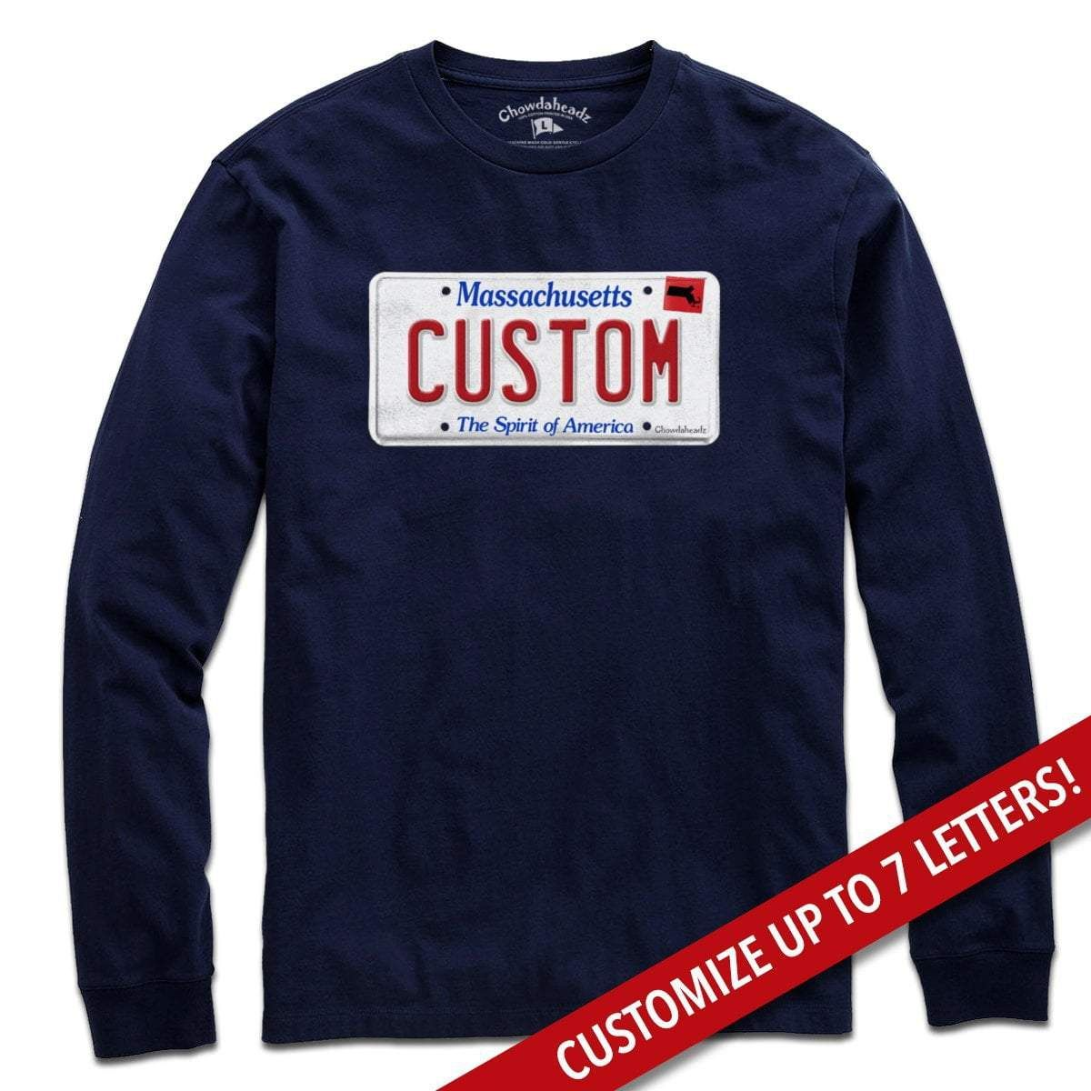 Custom Massachusetts License Plate T Shirt Outfit Inspiration T