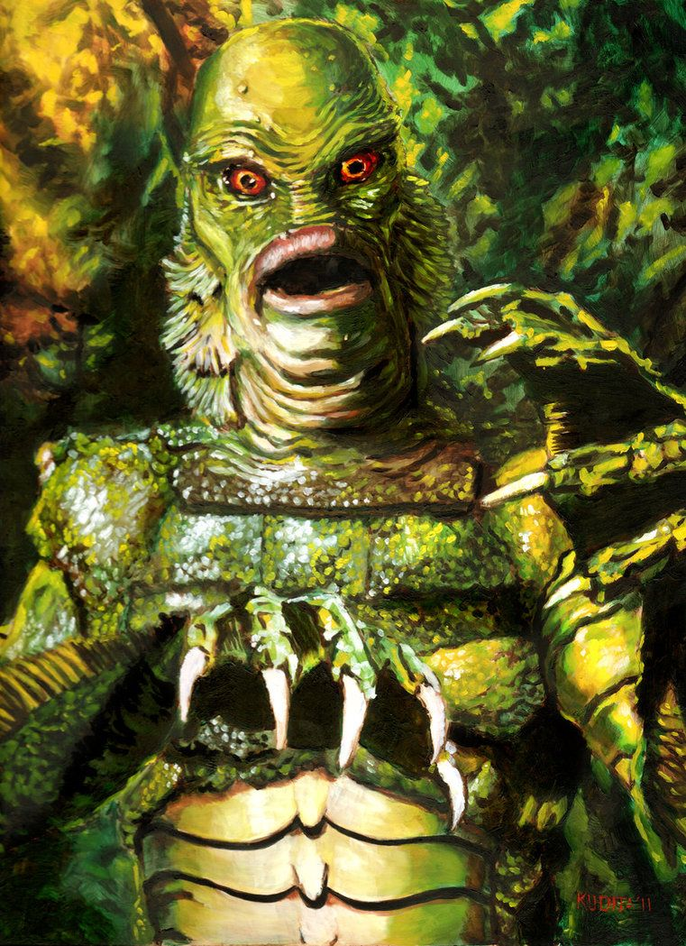 Creature from the Black Lagoon statue | Writer's Inspiration:The ...