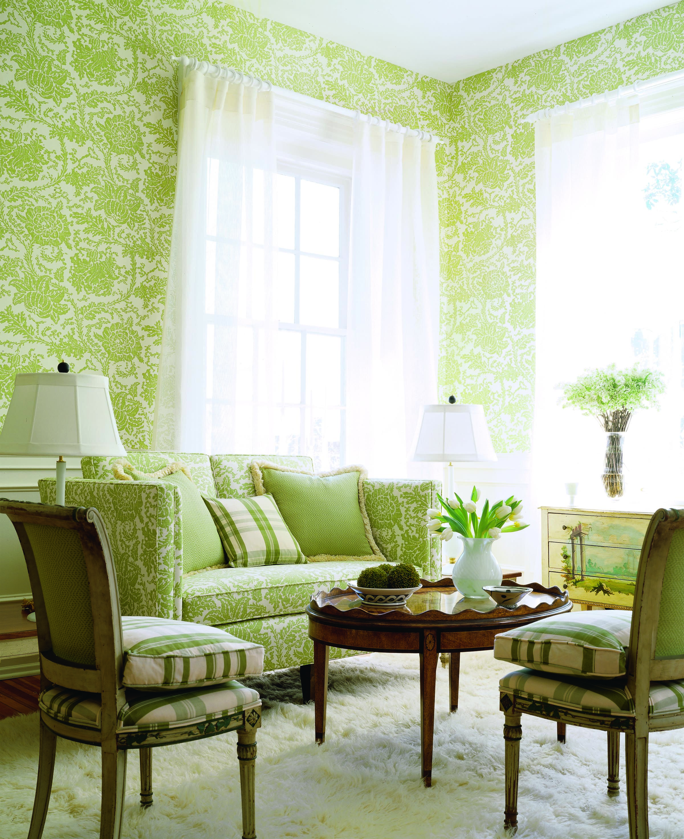 Mizoram wallpaper and fabric from Cypress Thibaut Room