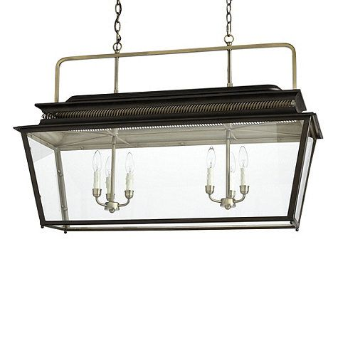 Piedmont 6 Light Rectangular Lantern Lantern Light Fixture
