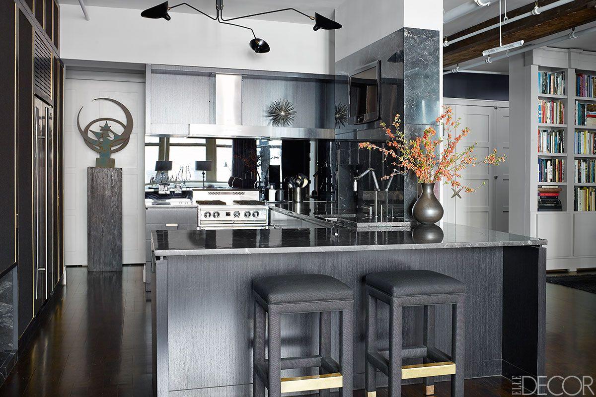 Cool kitchen trends elle decor on new trends in kitchen design - Deep Focus A Dramatic Manhattan Apartment Kitchen