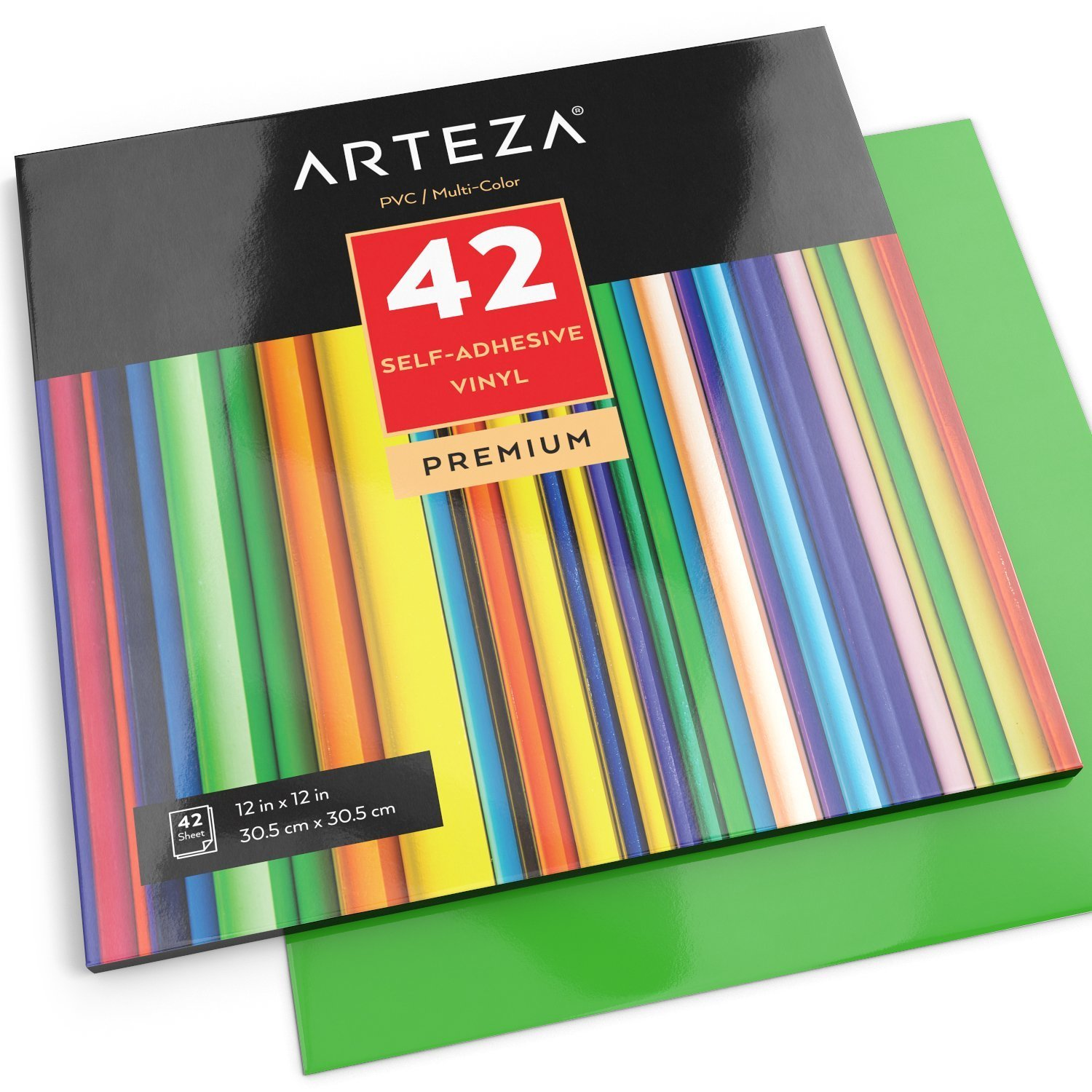 Set Of 42 Premium Multicolor 12 X 12 Self Adhesive Vinyl Sheets Weeds Easily And Can Be Used With All Craft Adhesive Vinyl Sheets Adhesive Vinyl Vinyl Sheets