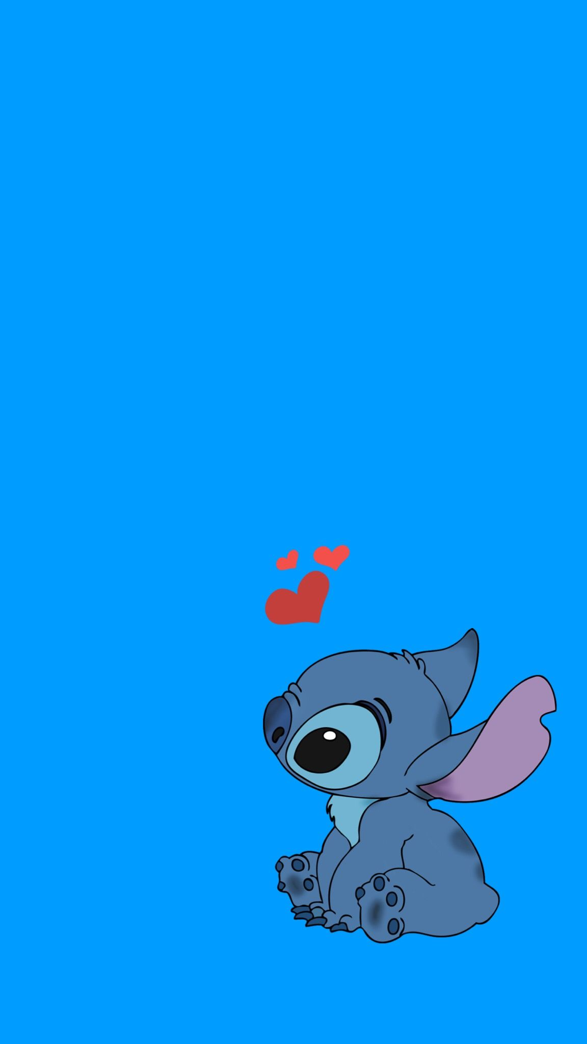 This Wallpaper Is Perfect For Who Loves Stitch Stitch Love Blue Cute Disney Characters Wallpaper Character Wallpaper Funny Iphone Wallpaper