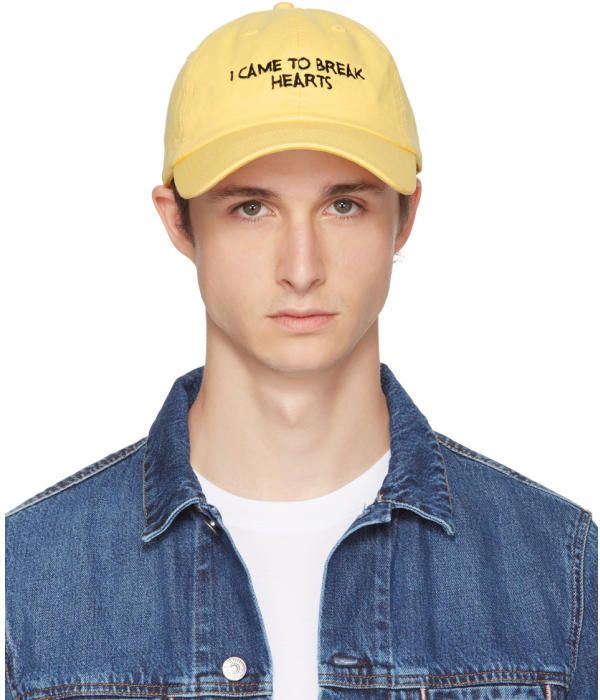SSENSE Exclusive Yellow and Black I Came to Break Hearts Cap Nasaseasons aoF7I