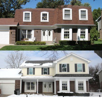 Mansard roof redesign in northbrook for the home for Redesign your home exterior