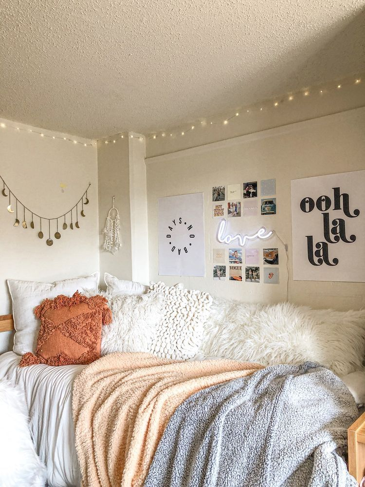 Vsco Bedroom Dorm College With Images College Dorm Room