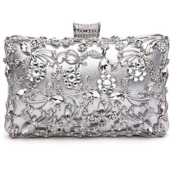 b6489bb5d50 GESU Large Womens Crystal Evening Clutch Bag Wedding Purse Bridal Prom...  ($30) ❤ liked on Polyvore featuring bags, handbags, clutches, party clutches,  ...