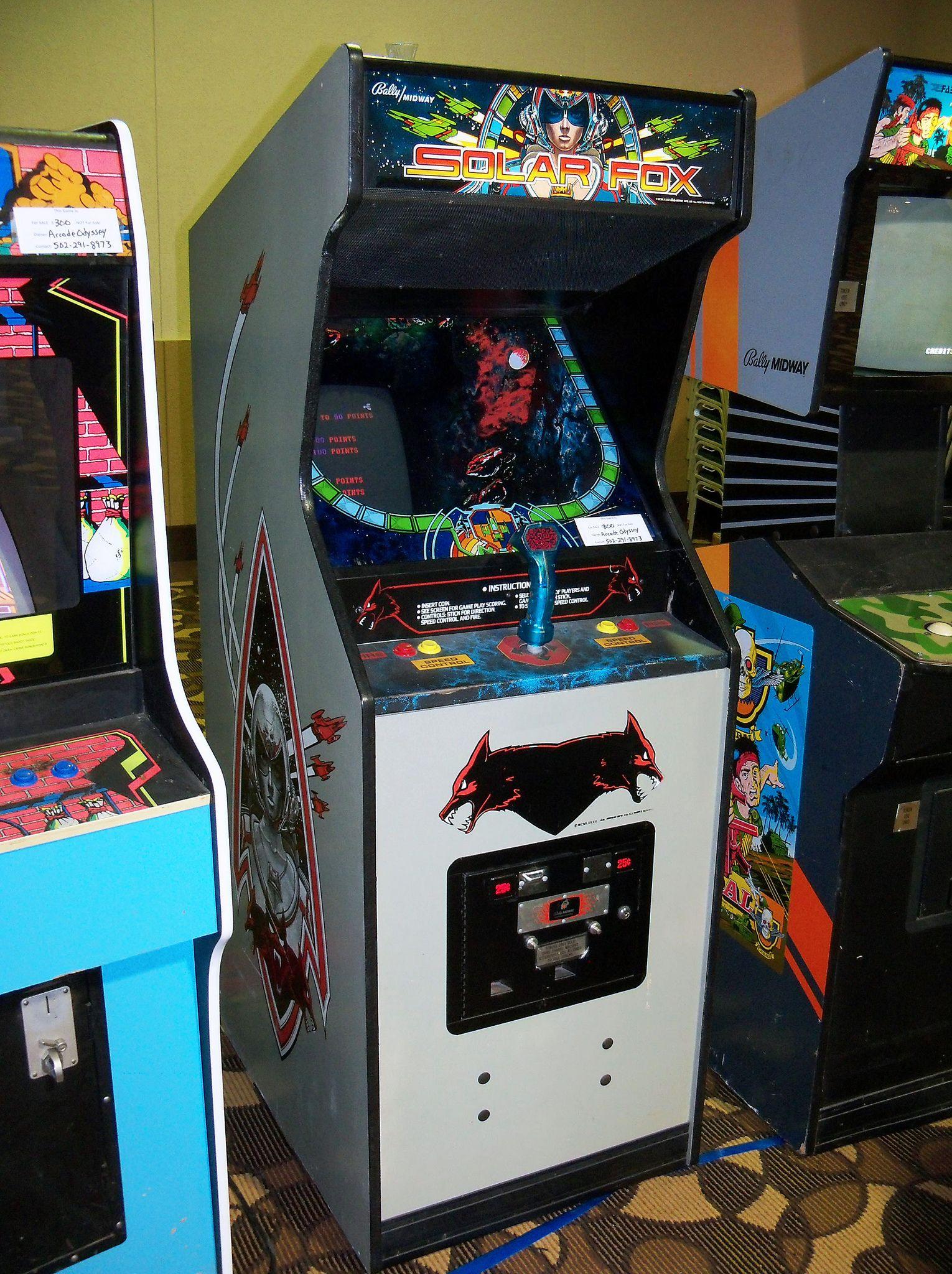 Ky Louisville Solar Fox Arcade Game Room Arcade Arcade Games