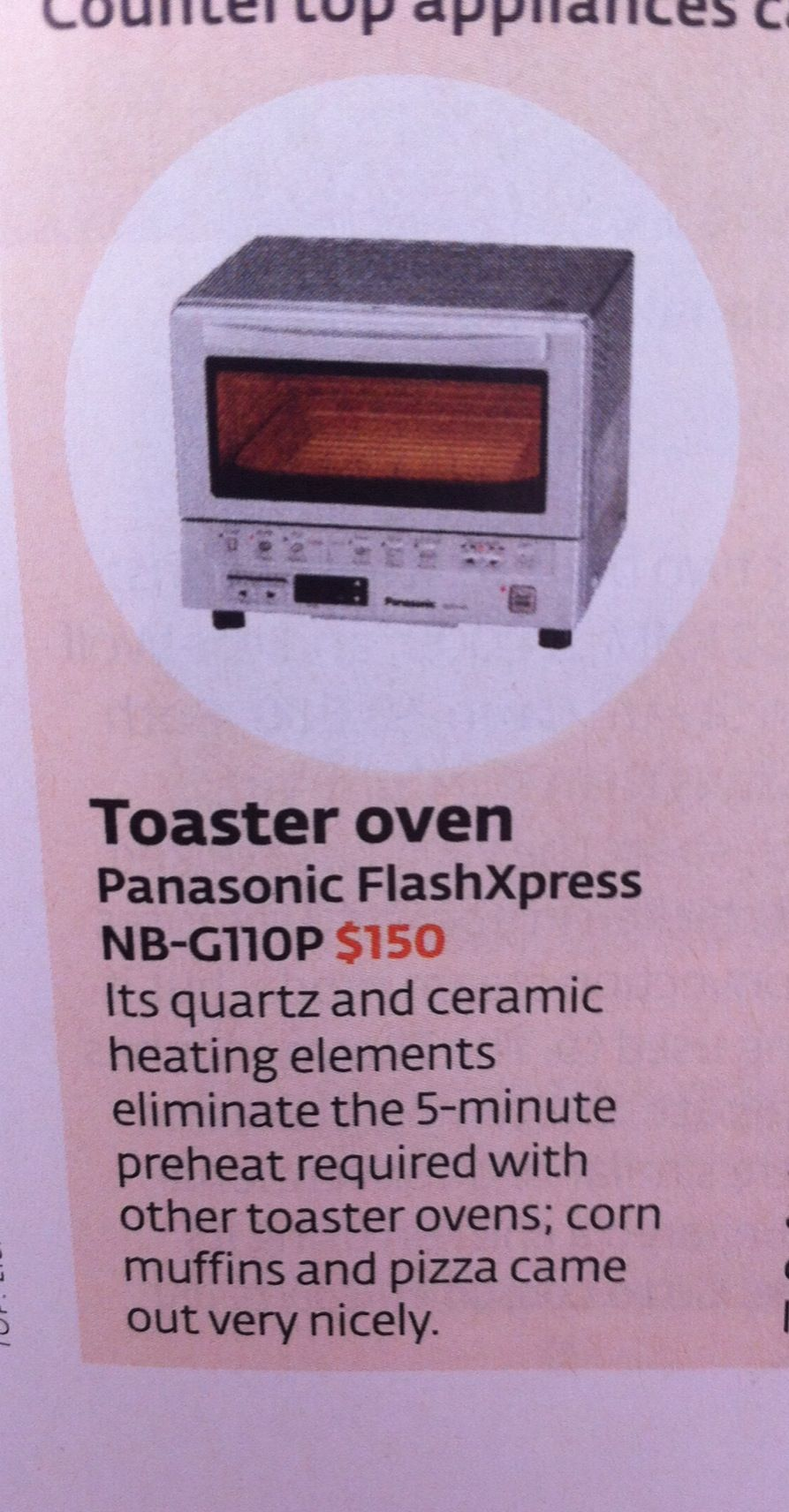Toaster oven recommendation, consumer reports