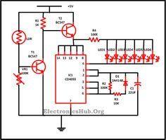 led christmas lights circuit diagram and working elektronik rh pinterest com Xmas Tree Lights Diagram Mini Xmas Lights Wiring-Diagram