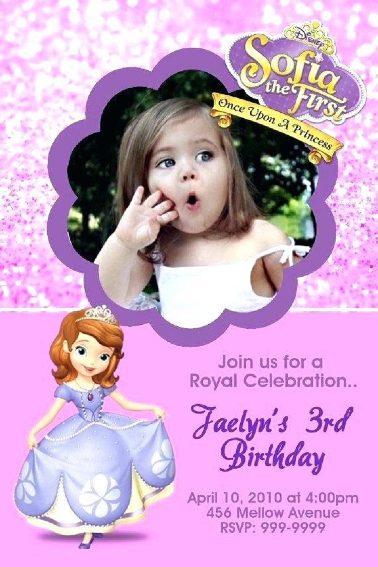 First Birthday Invitation Sample