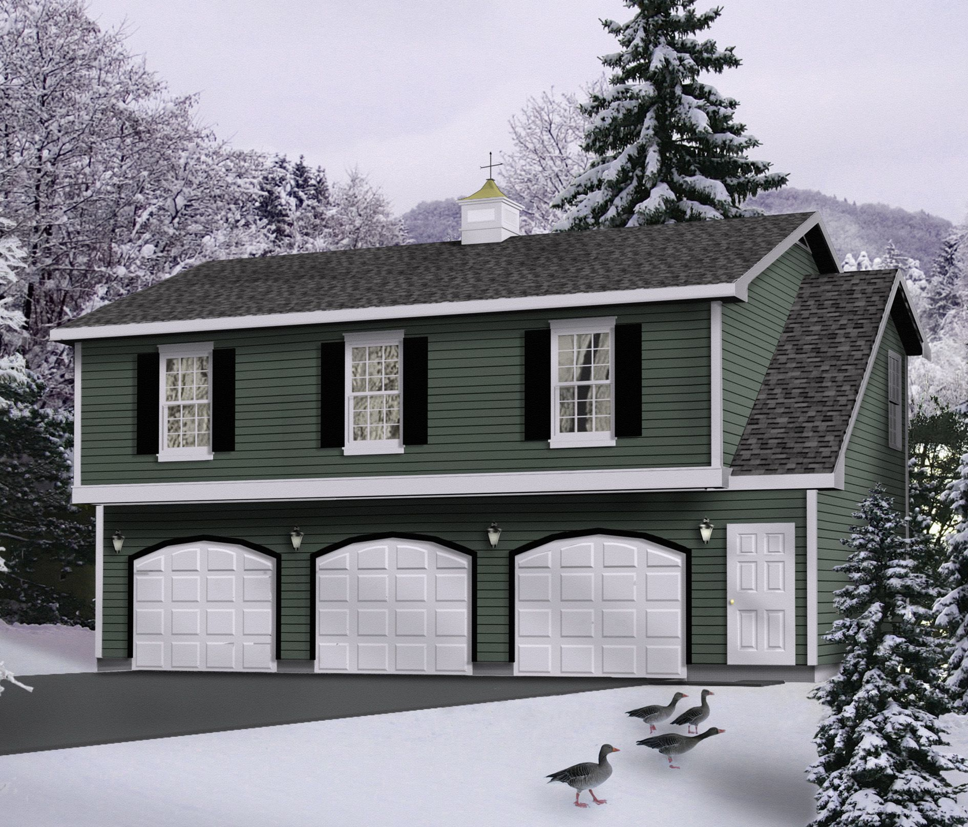 Plan 2236sl affordable garage apartment garage for Affordable garage plans