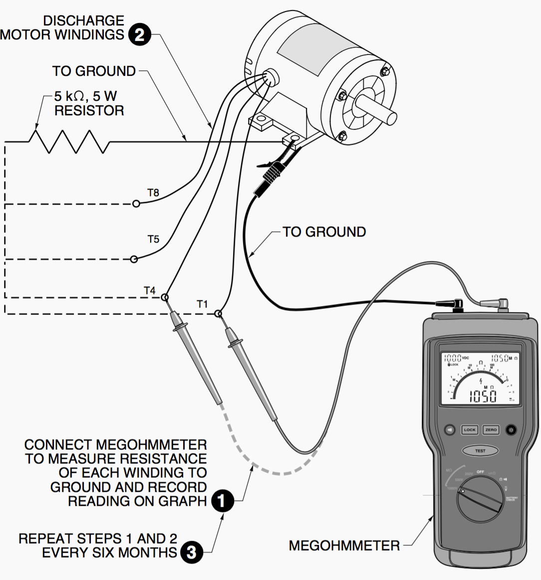 How to check motor winding with multimeter for How to check ac motor