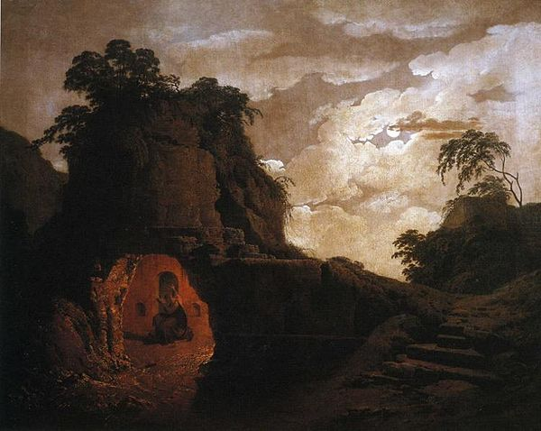 Virgil's Tomb by Moonlight (1782) by Richard Wright