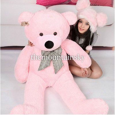 100CM Cute Teddy Bear Pink Giant Big Cute Plush 100% Cotton Huge Soft Toy  Gift