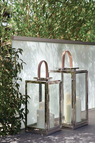 Mit Den Hochwertigen Vernickelten Edelstahl Laternen Zambia Schaffen Sie Eine Stimmungsvolle Atmosphare Material Later Laterne Garten Laterne Kerze Laterne