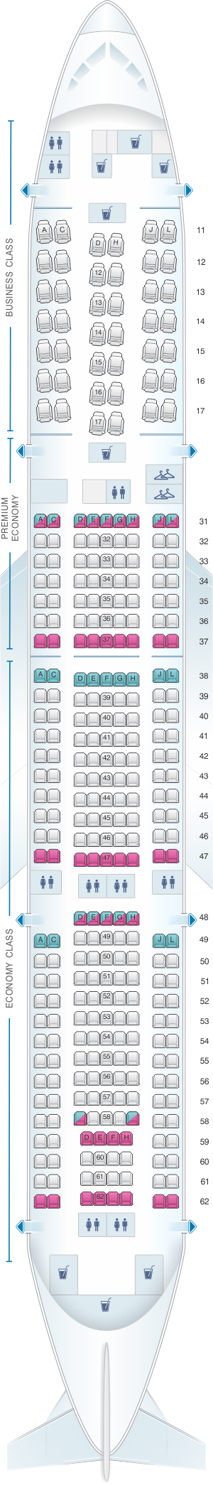 Seat Map Air China Boeing B777 200 (310PAX | Srilankan ...
