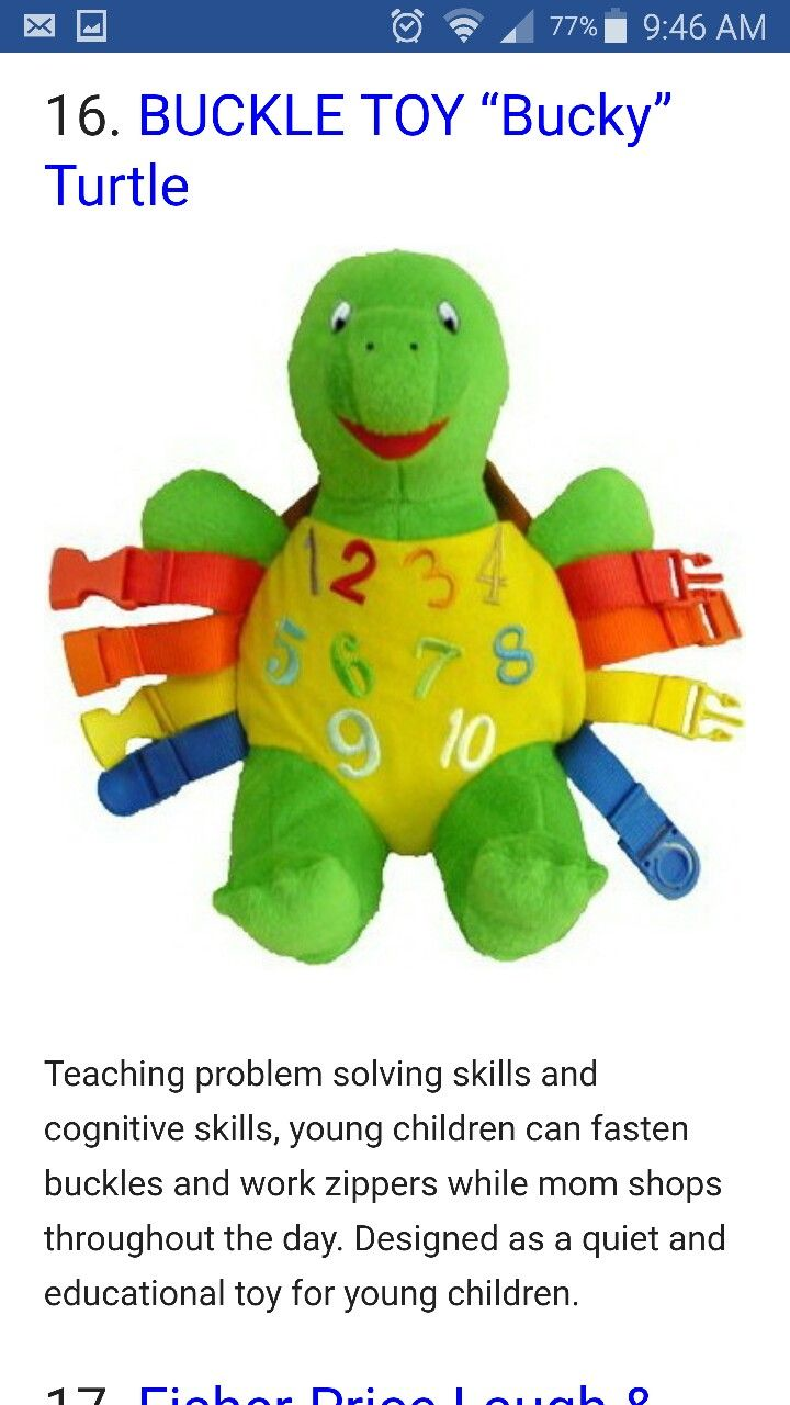 Buckles and number learning travel toys for toddlers