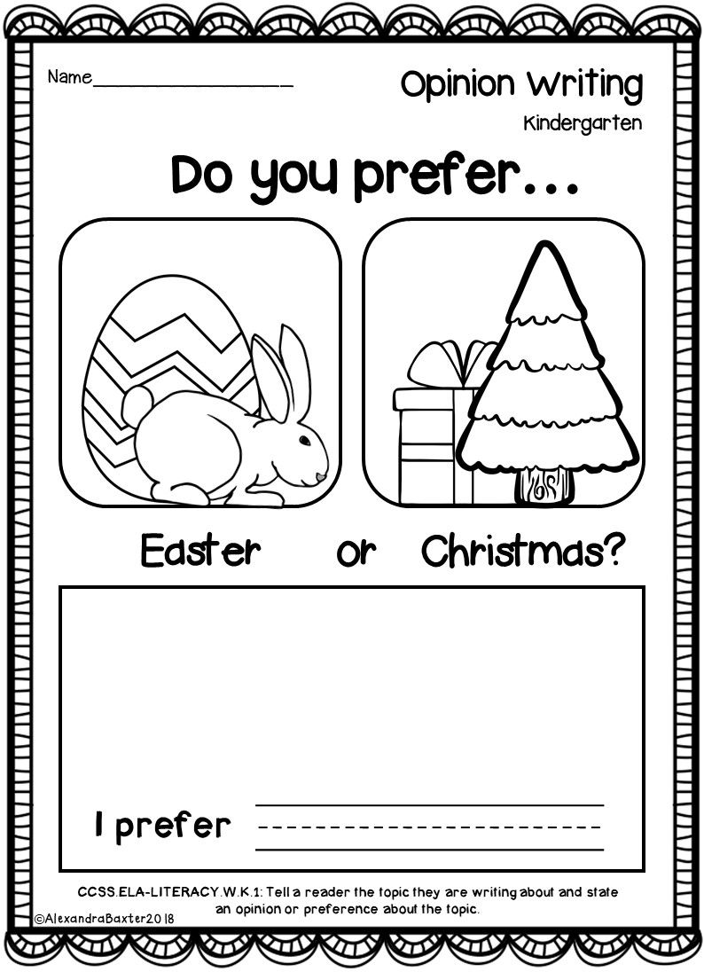 Kindergarten Opinion Writing Prompts And Worksheets Opinion Writing Kindergarten Opinion Writing Prompts Opinion Writing Kindergarten
