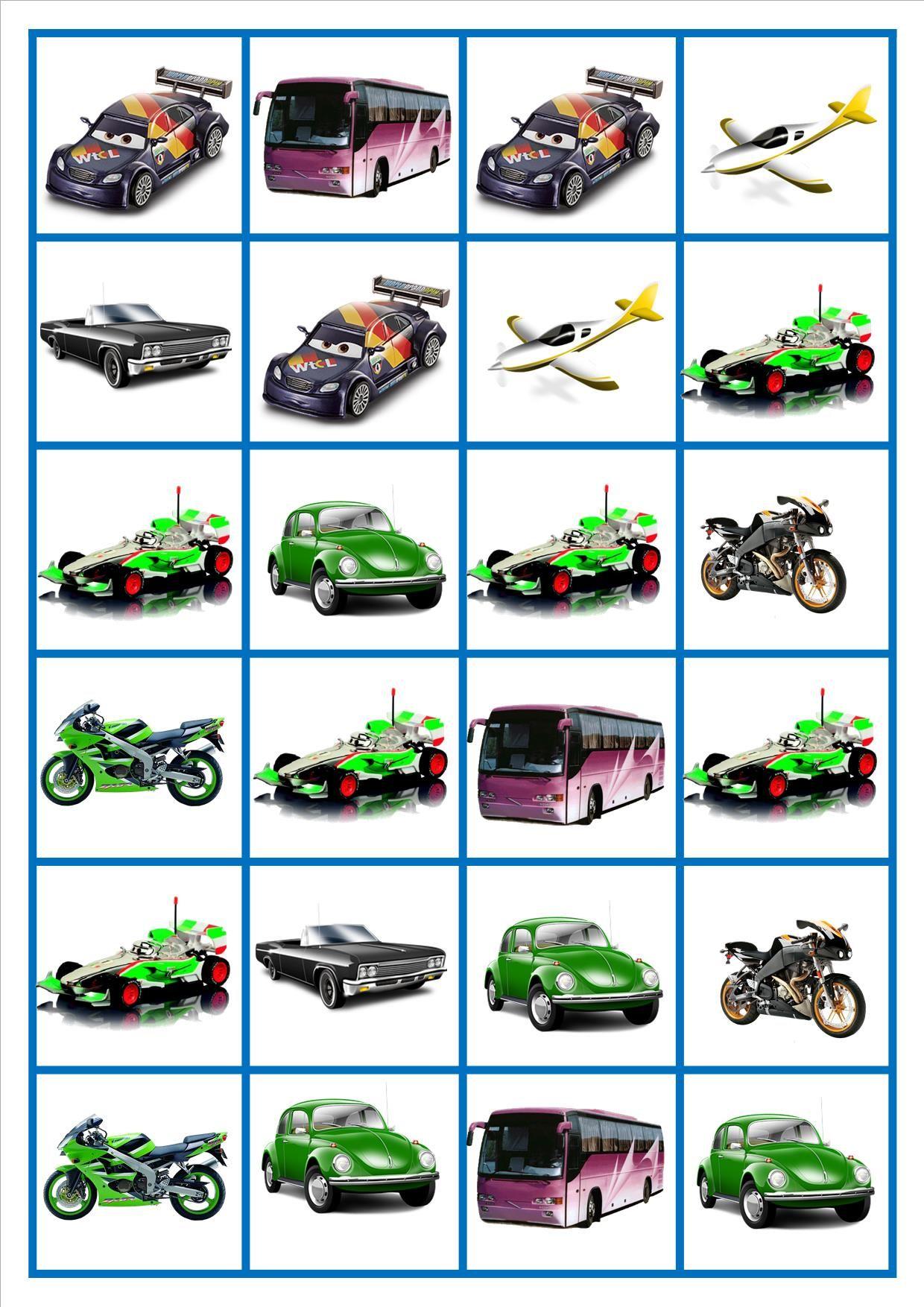 Domino Auto S Vervoer Thema Spelborden