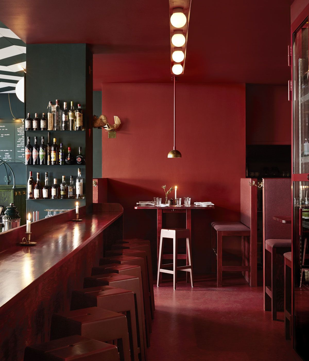 The Best 5 Bars And Restaurants In Stockholm As Recommended By Local Designers Bar Interior Design Red Interior Design Restaurant Interior