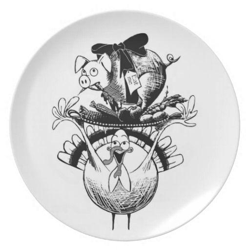 Thanksgiving feast melamine plate Thanksgiving feast