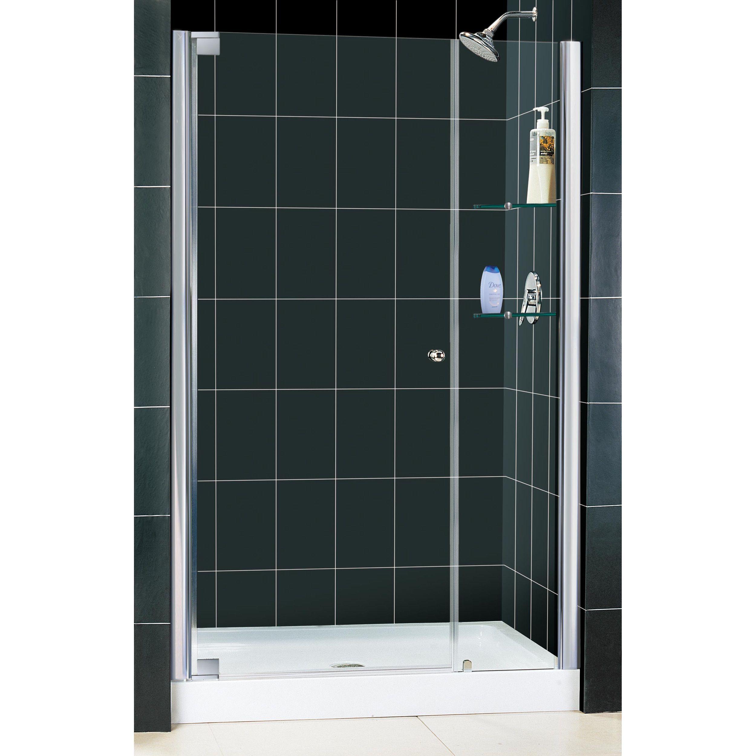 Dreamline Elegance Frameless Pivot Shower Door And Slimline 36 In