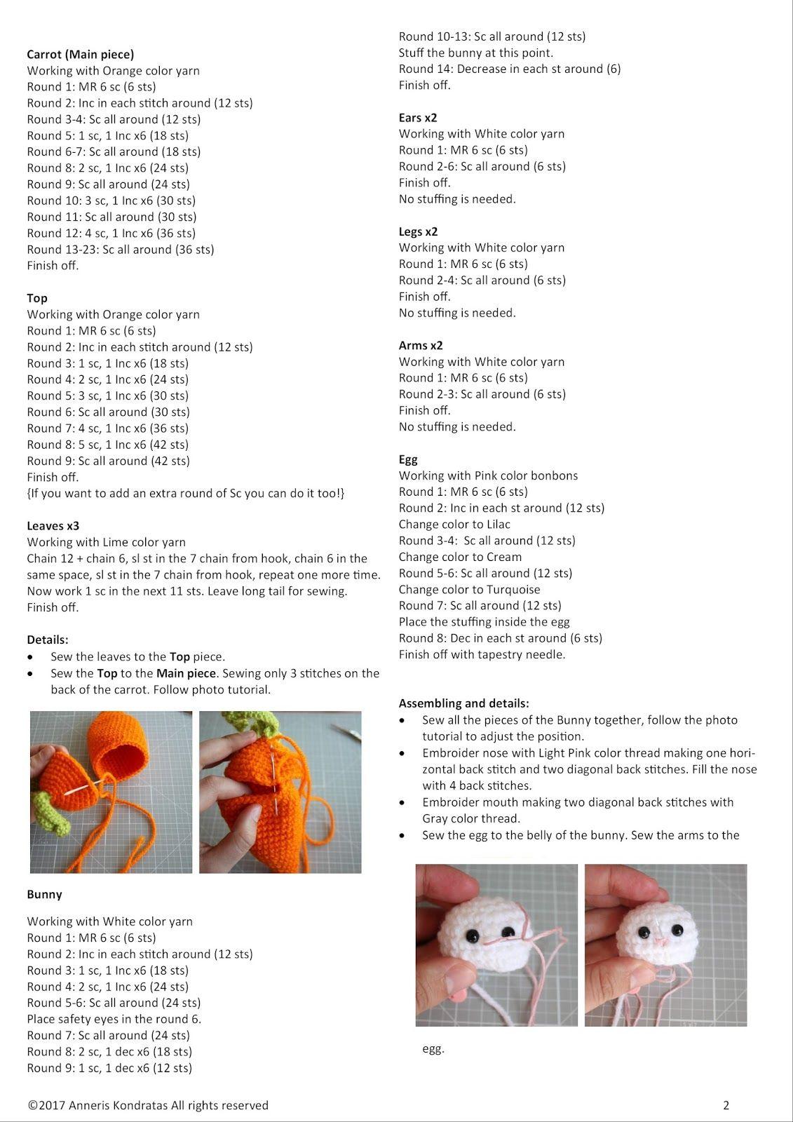amigurumi food crochet free pattern animals patrones gratuitos patron gratis ganchillo crochet hook crochet food #eastercrochetpatterns