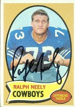 Autographed Dallas Cowboys 1970 Topps 4 Cowboys Autograph Dallas Cowboys