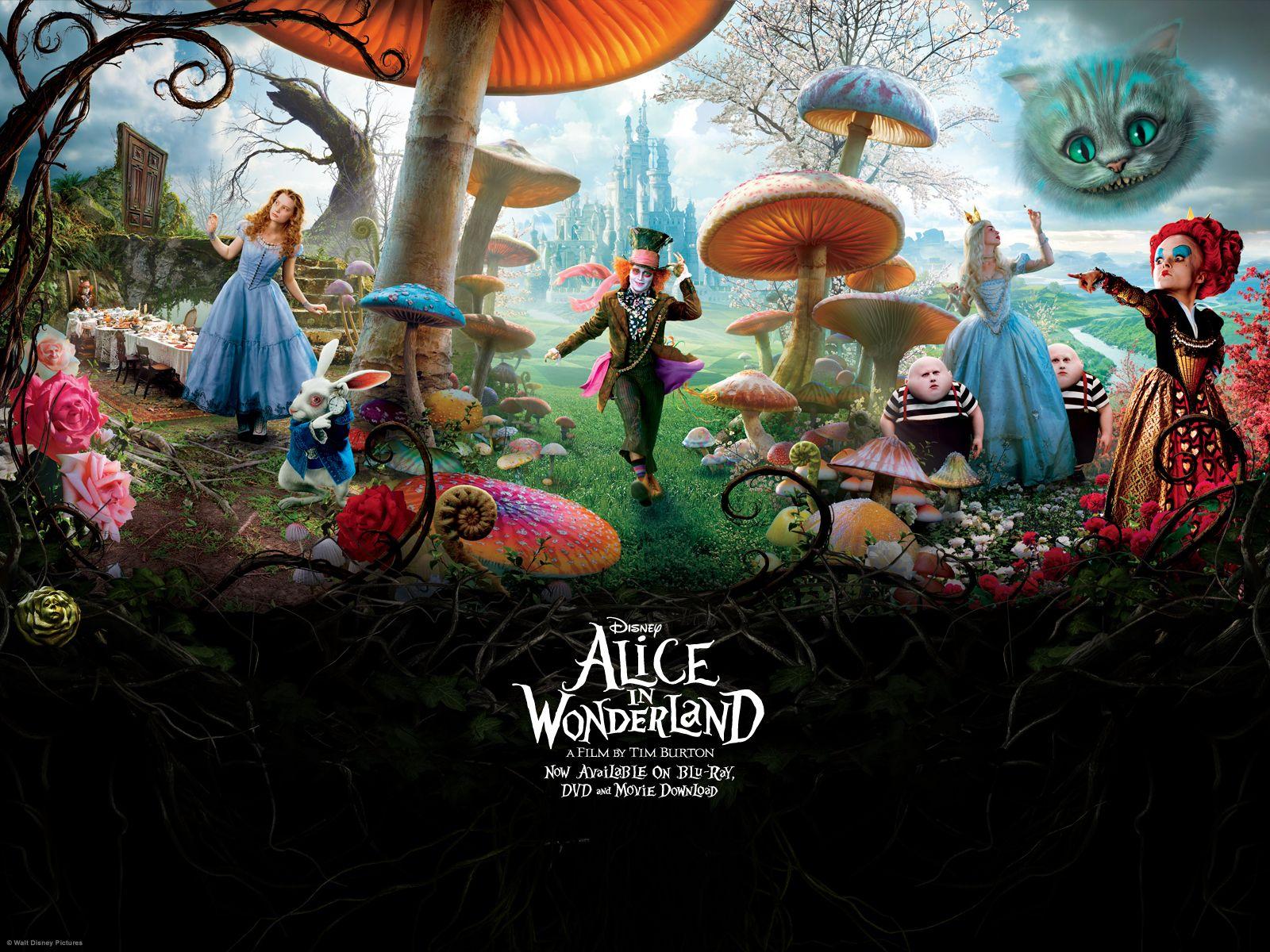 Alice In Wonderland 2010 Wallpaper Alice In Wonderland Alice In Wonderland Pictures Alice In Wonderland Poster Alice In Wonderland Background
