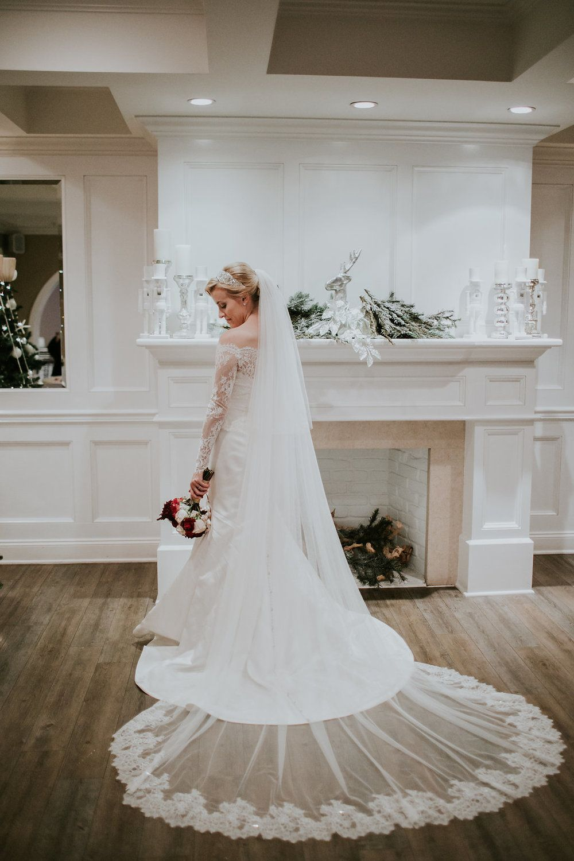 Emily + Daniël wedding dress, Catholic bride