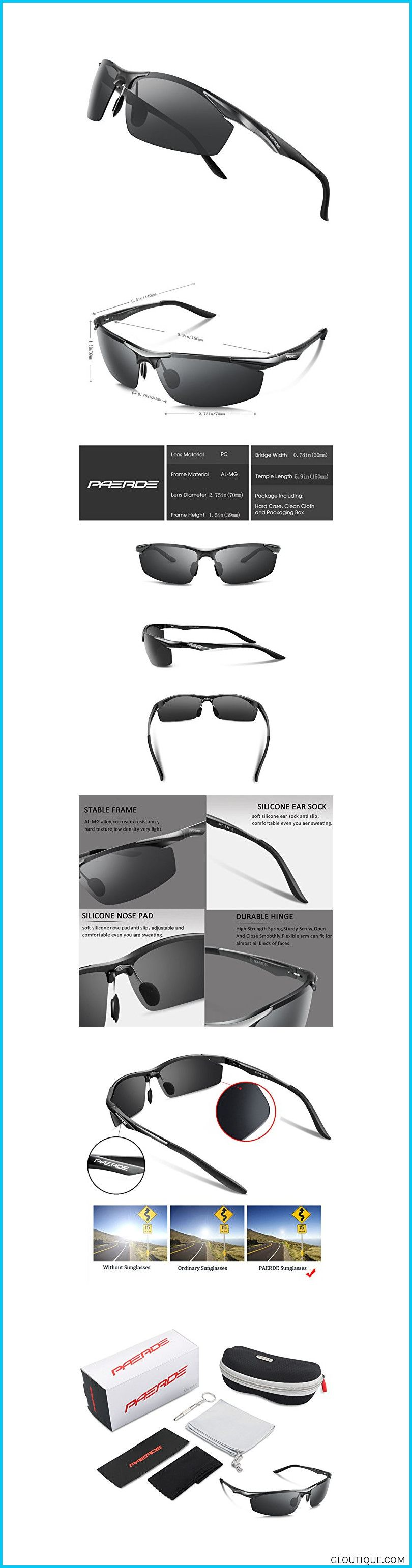 8e94134df08 Polarized sunglasses reduce glare reflected off of roads women PAERDE Men s  Sports Style Polarized Sunglasses for Men Driving Fishing Cycling ...