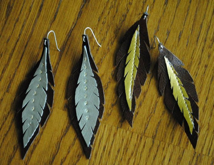DIY Leather Earrings | visit collectandcarry com