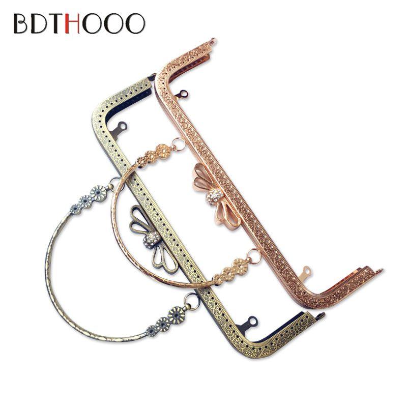25cm Bag Accessories Metal Purse Frame Handle Diy Kiss Clasp Lock For Women Clutch Handbag