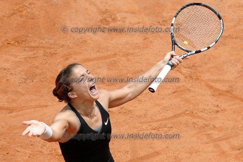 Sara Errani. Oggi trionfa a #Wimbledon Roma 16-05-2014 Foro Italico, Internazionali d'Italia di Tennis. Foto Antonietta Baldassarre / Insidefoto