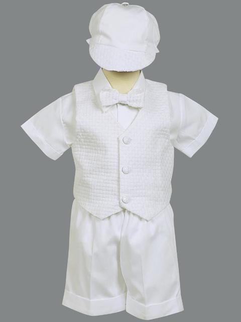 59f83a7342697 Baby Boy Christening Vest   Shorts w  Hat (9-12M)