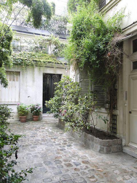 Courtyard, cobble stone